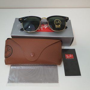 RayBan RB3016-W0365-49 Clubmaster Black Sunglasses